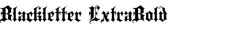 Картинка Шрифта Blackletter ExtraBold
