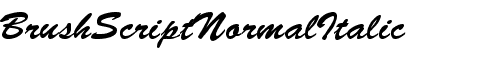 Картинка Шрифта Brush-Script-Normal-Italic Regular
